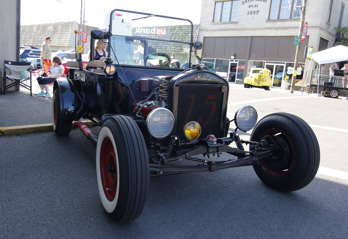 """A 1920 Ford Model T, owned by Doug and Judi Herschbach of Salem, Oregon was the epitome of a """"rat rod"""" at the Show & Shine in Junction City, Oregon, June 4, 2016."""