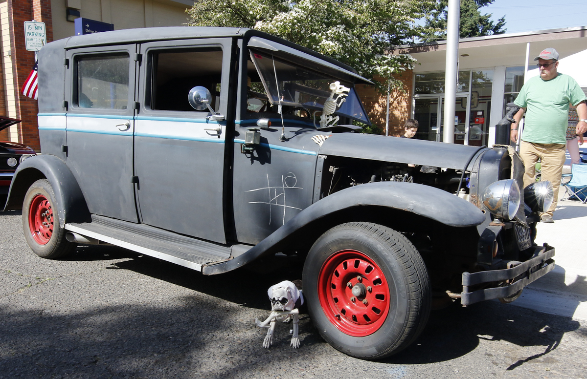 """This 1927 Hudson 4 Door is the very definition of a """"rat Rod"""". Its owners, Thersa and Sandy Segersons from Otis, Oregon built it just for that purpose. it was at the Show & Shine in Junction City, Oregon, June 4, 2016."""
