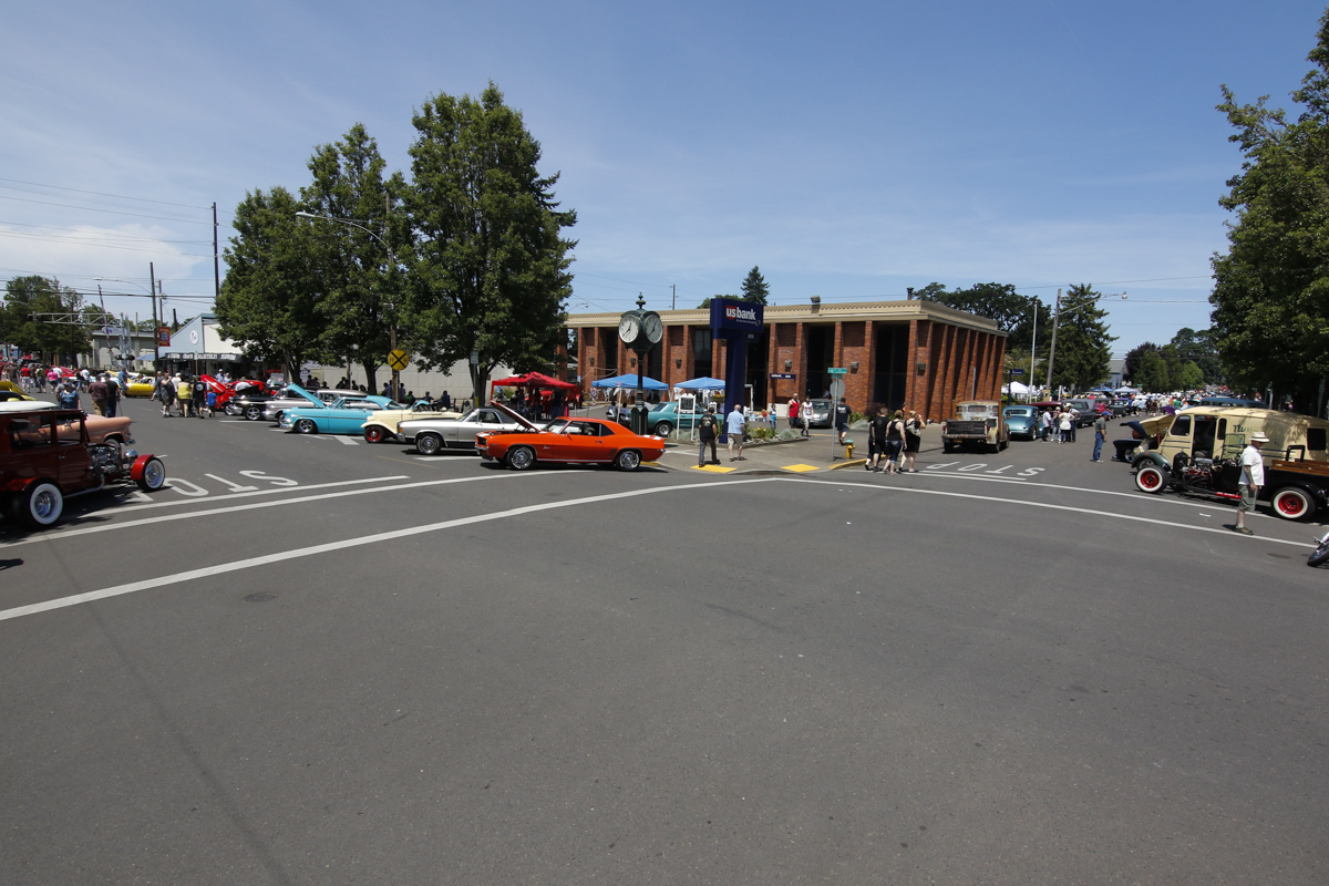 Hundreds of classic cars filled the streets of Downtown Junction City during the Show & Shine in Junction City, Oregon, June 4, 2016.