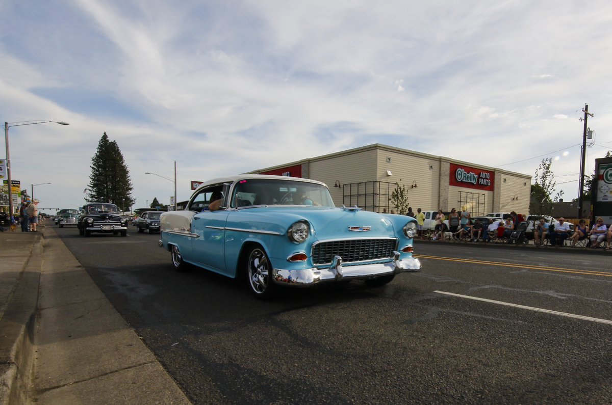 Hundreds of classic cars filled the streets in Junction City, Oregon. for the Function 4 Junction Cruise in, June 4, 2016.